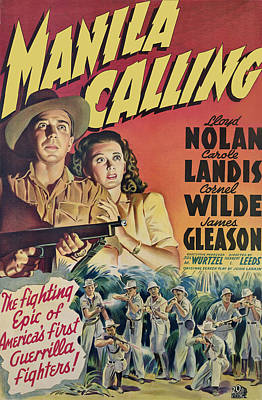 Manila Calling, From Left, Lloyd Nolan Art Print