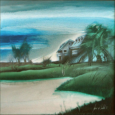 Painting - Manila Southwoods Manors 1998 by Glenn Bautista