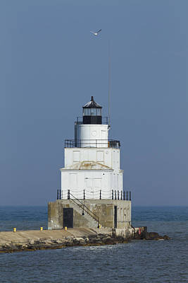 Pop Art - Manitowoc Breakwater Lighthouse 5 by John Brueske