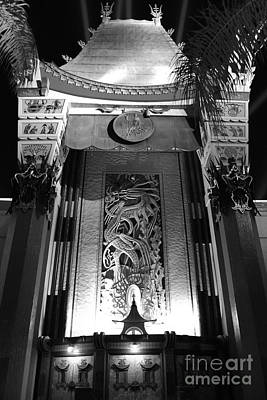 Photograph - Manns Chinese Exterior Great Movie Ride Hollywood Studios Walt Disney World Prints Black And White by Shawn O'Brien