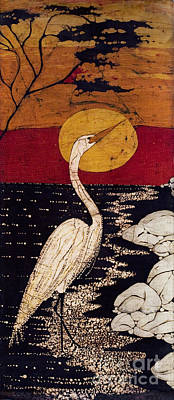 Lady Who Loves Birds Tapestry - Textile - Mano's Egret by Alexandra  Sanders