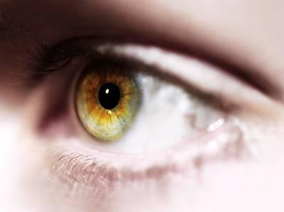 Man's Eye Art Print by Cordelia Molloy