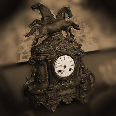 Desk Digital Art - Mantel Clock by Mike McGlothlen