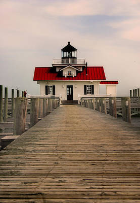 Art Print featuring the photograph Manteo Lighthouse by Cindy Haggerty
