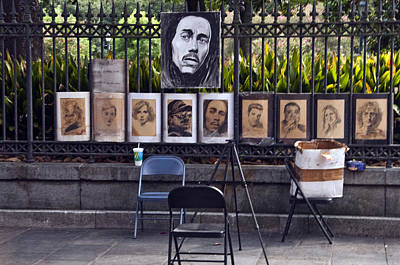 Many Faces Digital Art - Many Faces Of New Orleans by Nichon Thorstrom