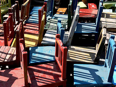 Art Print featuring the photograph Many Seats For Learning by EricaMaxine  Price