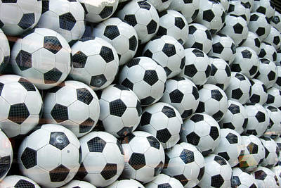 Photograph - Many Soccer Balls by Matthias Hauser