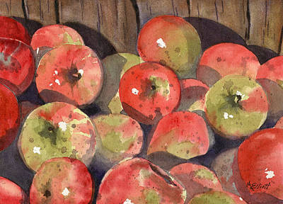 Cider Painting - Manzanas by Marsha Elliott