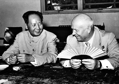 Nikita Photograph - Mao Tse-tung Meeting With Nikita by Everett