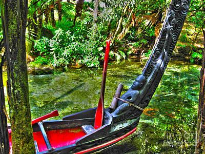 Maori Canoe Art Print by Joanne Kocwin