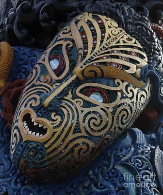 Maori Wall Art - Photograph - Maori Mask New Zealand 3 by Bob Christopher