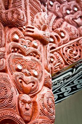 Maori Wall Art - Photograph - Maori Meeting House 2 by Jonathan Hansen