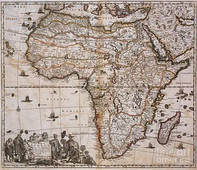 Map Of Africa, 1688 Art Print