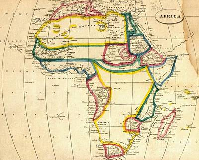Academic Mixed Media - Map Of Africa 1812 by Pg Reproductions