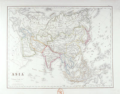 Map Of Asia Art Print by Fototeca Storica Nazionale