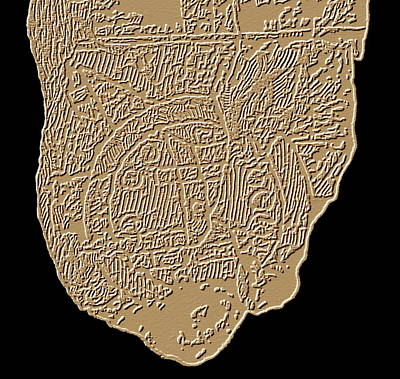 Map Of Mesopotamia Art Print by Sheila Terry