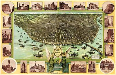 Map Of Saint Louis Art Print by Pg Reproductions