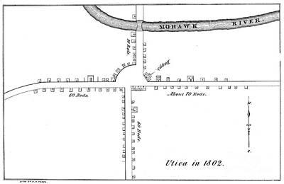 Map: Utica, 1802 Art Print