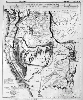 Map of us in 1848