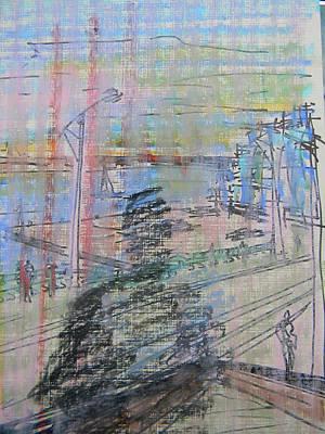 Toronto Maple Leafs Drawing - Maple Leaf Quay by Marwan George Khoury