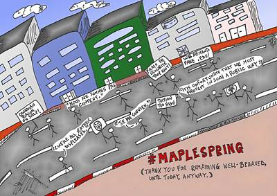 Occupy Mixed Media - Maple Spring by OptionsClick BlogArt