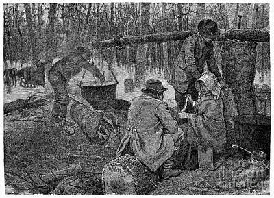 Sugaring Photograph - Maple Syrup, C1800 by Granger