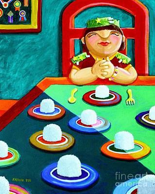 Philippine Art Painting - Marami Ka Pang Kakaining Bigas by Paul Hilario