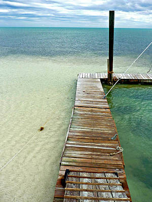 Photograph - Marathon Dock Florida Keys by Jo Sheehan