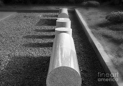 Photograph - Marble Benches by Eena Bo