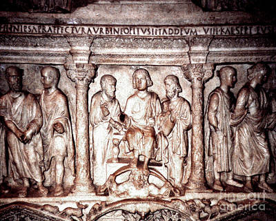Photograph - Marble Crypt In Saint Peter's Basilica In Rome by Merton Allen