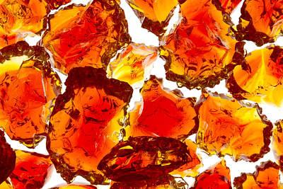 Marble Red Crackle Broken 1 B Art Print by John Brueske