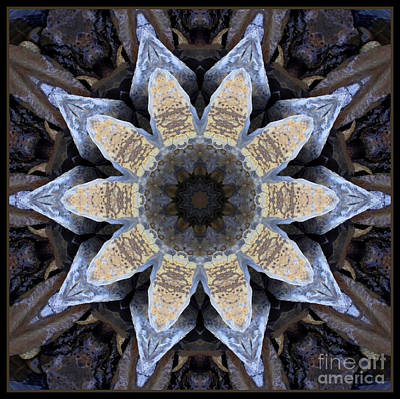 Marbled Mandala - Abstract Art Art Print by Carol Groenen