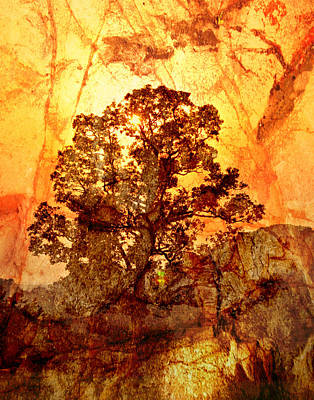 Marbled Tree Art Print by Marty Koch