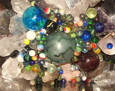 Marbles And Other Things Shiny Art Print by Rachel Carmichael