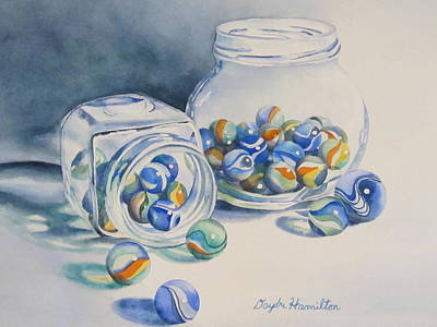 Marble Eyes Painting - Marbles On Review by Daydre Hamilton