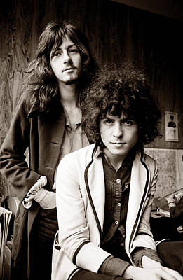 Rex Photograph - Marc Bolan T Rex 1969 Sepia by Chris Walter