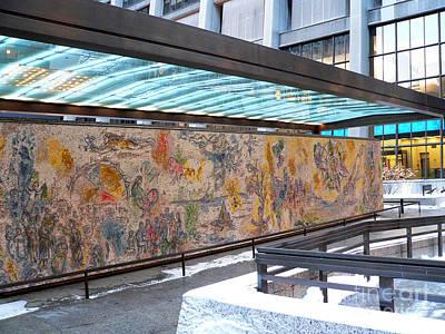 Marc Chagall Mosaic Print by David Bearden