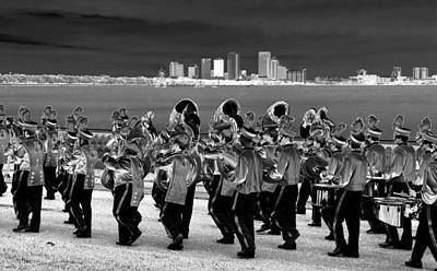 Marching Band Photograph - March On by David Lee Thompson