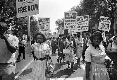Photograph - March On Washington, 1963 by Granger