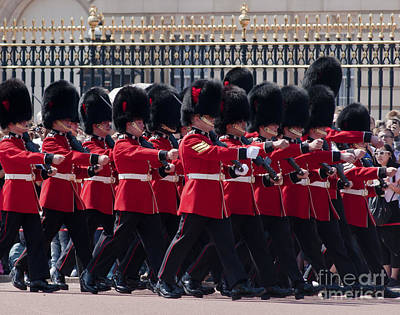 Buckingham Palace Photograph - Marching In Red And Black by Andrew  Michael