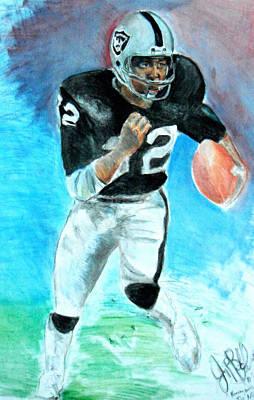 Nfl Legends Painting - Marcus Allen Raiders  by Jon Baldwin  Art