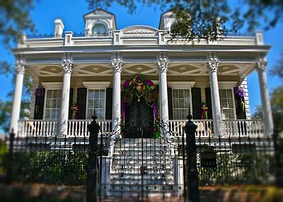 Print featuring the photograph Mardi Gras House by Jim Albritton
