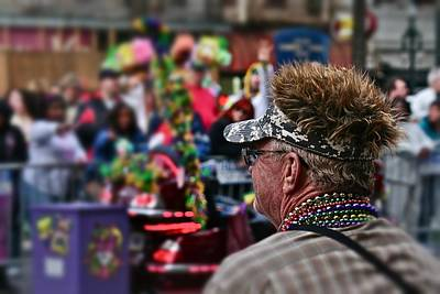 Print featuring the photograph Mardi Gras Man by Jim Albritton
