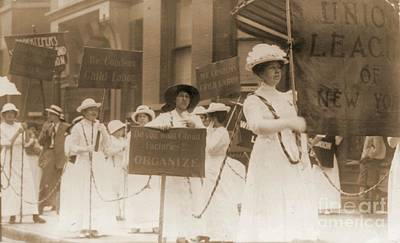 Margaret Hinchey Carrying Banner In New York City Suffrage Parade Art Print