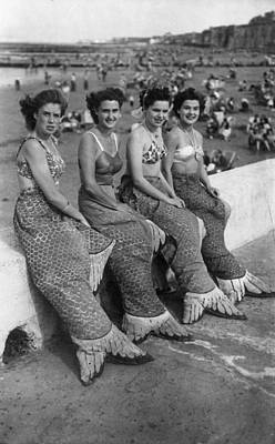 Of Mermaid Photograph - Margate Mermaids by Keystone