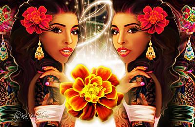 Mari Gold Art Print by Kia Kelliebrew