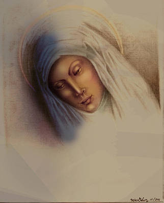Mother Mary Digital Art - Maria by Alberto Galvez