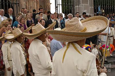 Photograph - Mariachi Wedding San Miguel De Allende Mexico by John  Mitchell