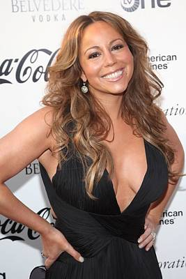 Diamond Earrings Photograph - Mariah Carey At Arrivals For Apollo by Everett