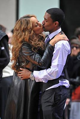 Mariah Photograph - Mariah Carey, Nick Cannon At Talk Show by Everett